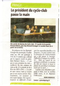 AG DU 11 OCTOBRE 2013 ARTICLE DE L'ESSOR